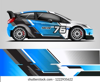 Rally livery design. Racing car wrap design. abstract strip racing background vector eps format