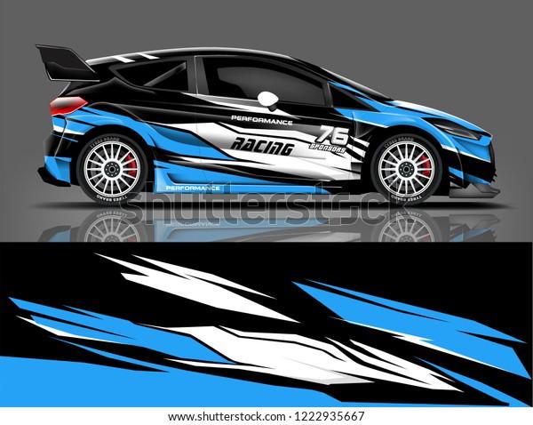 Rally Livery Design Racing Car Wrap Stock Vector Royalty