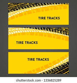 Rally race grunge tire dirt car background banner. Offroad wheel truck vehicle vector illustration.
