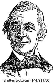 Ralph Waldo Emerson, vintage illustration