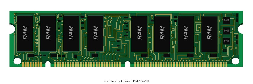 RAM circuit board,PCB,vector design,EPS 10