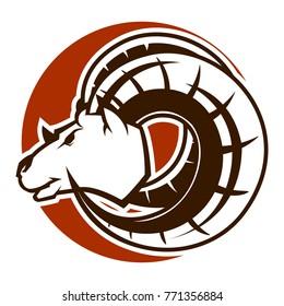 Ram Goat Head Mascot