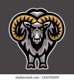 Ram, Goat Mascot team logo, color illustration.