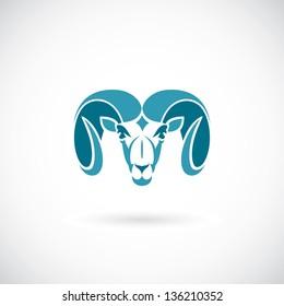Ram head - vector illustration