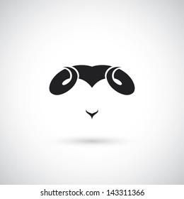Ram horns - vector illustration