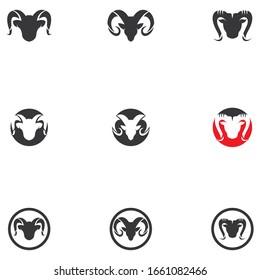 Ram Horns Vector logo Icons Template