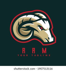 Ram mascot logo design vector with modern illustration concept style for badge, emblem and t-shirt printing. Goat illustration for sport and e-sport team