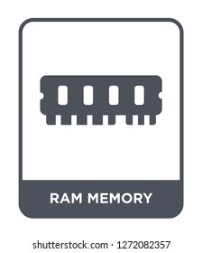 ram memory icon vector on white background, ram memory trendy filled icons from Electronic devices collection, ram memory simple element illustration