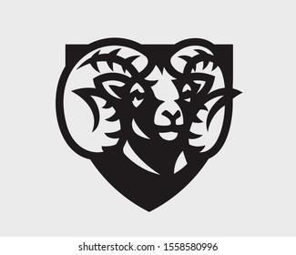 Ram modern logo. Aries emblem design editable for your business. Vector illustration.