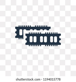 Ram vector icon isolated on transparent background, Ram transparency concept can be used web and mobile
