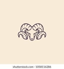 ram vector illustration for logo