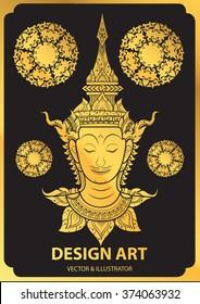 rama thai face vector