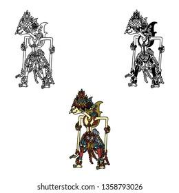RAMA_wayang kulit (traditional performing arts of puppet-shadow)