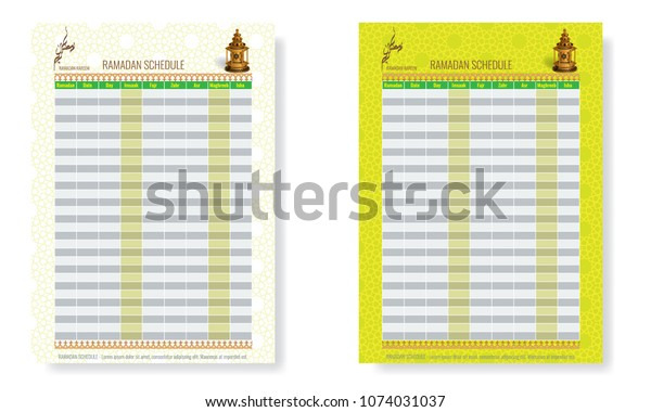 Ramadan Calendar Schedule - Fasting and Prayer time Guide