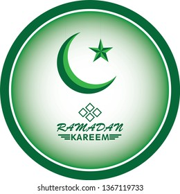 Ramadan Careem Background of circle, Crescent & star. For web banners, greeting cards & promotional templates on the 2019 Ramadan Holidays.