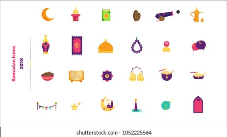 Ramadan Color Icons