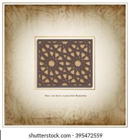 Ramadan design background, Arabian tradition pattern.