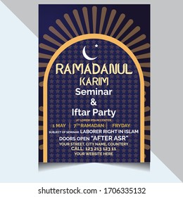 Ramadan flyer for ifter party and seminar