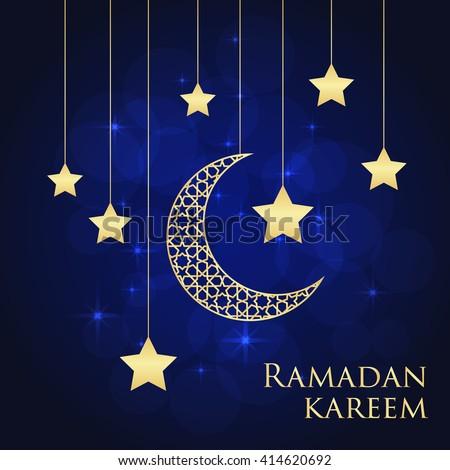 Ramadan greeting card on blue background stock vector royalty free ramadan greeting card on blue background vector illustration ramadan kareem means ramadan is generous m4hsunfo