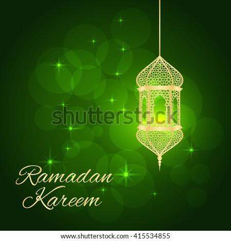 Ramadan greeting card on green background stock vector royalty free ramadan greeting card on green background vector illustration ramadan kareem means ramadan is generous m4hsunfo