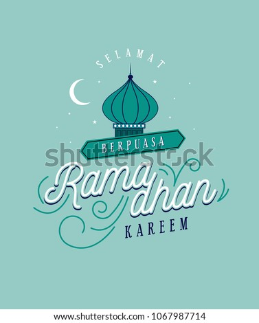 Ramadan greetings template malay words that stock vector royalty ramadan greetings template with malay words that mean happy breaking fast blessed m4hsunfo