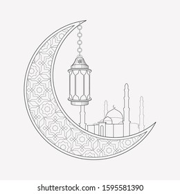 Ramadan icon line element. Vector illustration of ramadan icon line isolated on clean background for your web mobile app logo design.