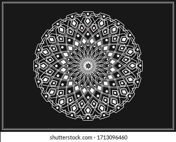 Ramadan islamic round pattern elements. Arabic symbols vector. Islamic ornament vector. Persian Motiff. Geometric logo. Circular ornamental.