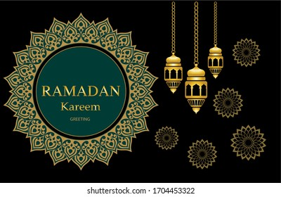 Ramadan Kareem Background for greeting card or web background. EPS10 Illustration.