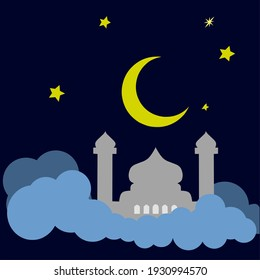 The Ramadan Kareem banner, with a simple concept, is suitable for various design purposes.