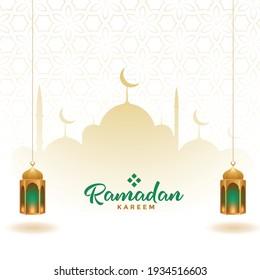 ramadan kareem elegant decorative card design