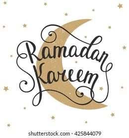 ramadan kareem greeting card design template stock illustration