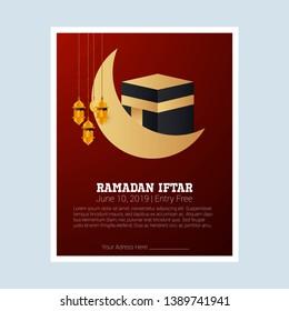 Ramadan Kareem greeting card with Holly Kabba