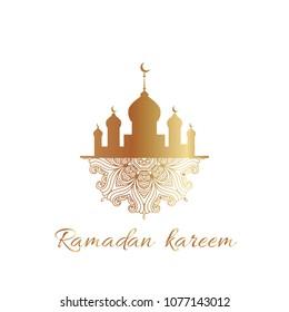 Ramadan Kareem greeting  card, poster, banner.Ramadan Kareem greeting card, banner, poster. Vector illustration.