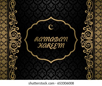 Ramadan Kareem greeting card vector illustration