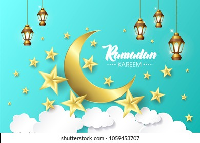 Ramadan Kareem, happy iftar, Ramadan Kareem beautiful greeting card with arabic calligraphy, template for menu, invitation, poster, banner, card for the celebration of Muslim festival, sale.