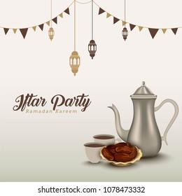 Ramadan Kareem Iftar Party background design