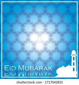Ramadan Kareem Islamic vector illustration background with mosque.