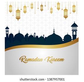 Ramadan Kareem luxury gold exclusive background