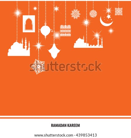 Ramadan Kareem Mubarak Month Forgiveness Wish Stock Vector Royalty