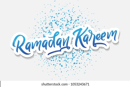 Ramadan Kareem, Typography Lettering Caligraphy