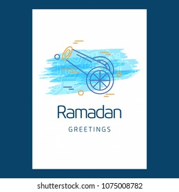 Ramadan Kareem Vector Background. calligraphy greeting card design of happy Ramadan Mubarak, Beautiful Muslim Event Eid Background Design