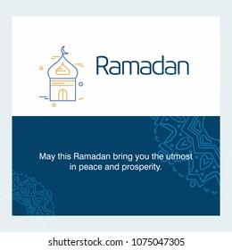 Ramadan Kareem Vector Background. calligraphy greeting card design of happy Ramadan Mubarak, Beautiful Muslim Event Eid Background Design