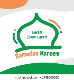 Ramadan Kareem With Young Style Graphic