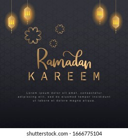 Ramadan luxury theme and elegant background suitable for posters, banners, social media sales templets etc.