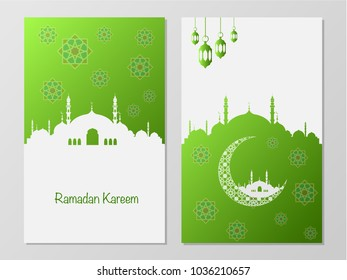 Ramadan Mubarak and Eid concept. Illustration of islamic design flyers, greeting card, pamphlet or others your content.