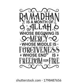 Ramadan Quote. Ramadan is month of Allah.