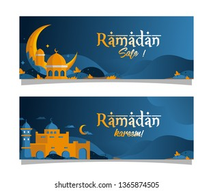 ramadan sale - illustration banner for ramdan 2019 - vector