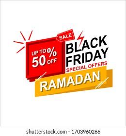 ramadan sale illustration with lantern.Religion muslim celebration. big sale.isolated on white background.vector illustration