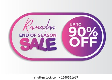 1bc185344eec1b Ramadan Sale style Design Vector. Suitable for Greeting Card, Poster and  Banner - Vector