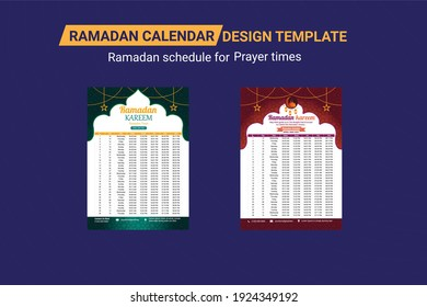 Ramadan schedule 2021 for Prayer times in Ramadan. Ramadan Kareem Timing 2021 Calendar, Ramadan Calendar Schedule - Fasting, Iftar and Prayer time table